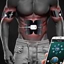 olcso Pilates-Abs stimulátor / Hastáncosító öv Val vel Bluetooth, USB, Újratölthető EMS képzés, Izomformálás, ABS edző, Hasizom formálás mert Férfi / Női Fitnesz / Tornaterem / Edzés kar, Láb, Has