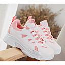 tanie Damskie obuwie sportowe-Damskie Komfortowe buty PU Jesień Buty do lekkiej atletyki Bieganie Niski obcas Biały / Różowy / Biały / czarny / biały