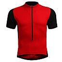 cheap Men's Necklaces-Men's Women's Short Sleeve Cycling Jersey - Red Blue Black / Orange Solid Color Plus Size Bike Jersey, Breathable Nylon Elastic / Stretchy