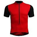 cheap Men's Bracelets-Men's Women's Short Sleeve Cycling Jersey - Red Blue Black / Orange Solid Color Plus Size Bike Jersey, Breathable Nylon Elastic / Stretchy