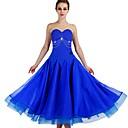 abordables Ropa para Baile de Salón-Baile de Salón Vestidos Mujer Entrenamiento Nailon / Organza / Tul Cristales / Rhinestones Sin Mangas Cintura Alta Vestido