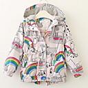 ieftine Seturi Îmbrăcăminte Fete-Copii Fete De Bază Zilnic Peteci Manșon Lung Regular Poliester Blazer Alb