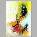 baratos Pinturas Florais/Botânicas-Pintura a Óleo Pintados à mão - Abstrato Modern Incluir moldura interna / Lona esticada