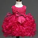preiswerte Kleider für Babys-Baby Mädchen Grundlegend Solide Birne Ärmellos Baumwolle Kleid Beige