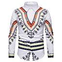 tanie Adidasy męskie-Koszula Męskie Vintage Plemienny / Długi rękaw