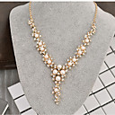 cheap Necklaces-Women's Classic Y Necklace - Imitation Pearl, Rhinestone Creative Stylish, Classic Gold 40+8 cm Necklace Jewelry 1pc For Wedding, Ceremony