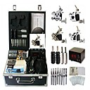 cheap Tattoo Ink-BaseKey Tattoo Machine Professional Tattoo Kit - 4 pcs Tattoo Machines, Professional Alloy 20 W LCD power supply Case Included 4 steel machine liner & shader
