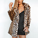 cheap Wedding Wraps-Long Sleeve Faux Fur Wedding / Party / Evening Women's Wrap With Leopard Coats / Jackets