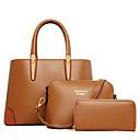 cheap Bag Sets-Women's Bags Cowhide Bag Set 3 Pcs Purse Set Zipper Black / Brown / Wine