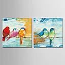 povoljno Slike sa životinjskim motivima-Hang oslikana uljanim bojama Ručno oslikana - Sažetak Cvjetni / Botanički Moderna Uključi Unutarnji okvir / Prošireni platno