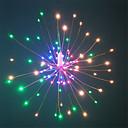 preiswerte Weihnachtsdeko-HKV 0,2 m Leuchtgirlanden 120 LEDs SMD 0603 1 13 Fernbedienung Warmes Weiß / RGB + Warm Wasserfest / Party / Dekorativ AA-Batterien angetrieben 1 set