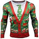 preiswerte Santa Anzüge & Weihnachtskleid-Inspiriert von Cosplay Plätzchen Anime Anime Cosplay Kostüme Cosplay-T-Shirt Cartoon Design / Weihnachten Kurzarm T-shirt Für Herrn