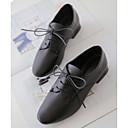 זול נעלי אוקספורד לנשים-בגדי ריקוד נשים נעלי נוחות PU סתיו נעלי אוקספורד עקב עבה לבן / שחור