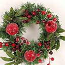 abordables Decoraciones Navideñas-Guirnaldas Navidad El plastico Circular Novedades Decoración navideña