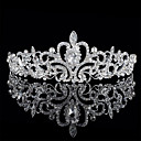 cheap Party Headpieces-Alloy Tiaras with Rhinestone 1 Piece Wedding Headpiece