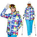 זול כפפות-Wild Snow בגדי ריקוד נשים ג'קט ומכנסיים לסקי עמיד, חם, אוורור סקי / ספורט רב פעילותי / ספורט שלג פוליאסטר מדים בסטים ביגוד סקי