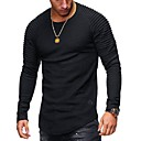 cheap Men's Rings-Men's T-shirt - Solid Colored Round Neck / Long Sleeve