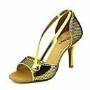 رخيصةأون أحذية لاتيني-نسائي أحذية رقص PU كعب نحيفة عالية الكعب أحذية الرقص أرجواني / أحمر غامق / أزرق / أداء / جلد / تمرين