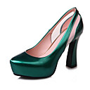 cheap Wedding Shoes-Women's Comfort Shoes Patent Leather Spring Heels Stiletto Heel Red / Green / Blue