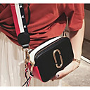 cheap Totes-Women's Bags PU(Polyurethane) Shoulder Bag Buttons Solid Color White / Black / Red