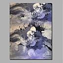 Χαμηλού Κόστους Ελαιογραφίες-Hang-ζωγραφισμένα ελαιογραφία Ζωγραφισμένα στο χέρι - Αφηρημένο / Τοπίο Σύγχρονο / Μοντέρνα Περιλαμβάνει εσωτερικό πλαίσιο / Κυλινδρικός καμβάς / Επενδυμένο καμβά
