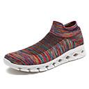 abordables Zapatillas Deportiva de Mujer-Mujer Zapatos Confort Punto Otoño Casual Zapatillas de Atletismo Running Tacón Plano Negro / Gris / Rojo