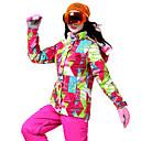 tanie Odzież narciarska i snowboardowa-Wild Snow Damskie Kurtka i spodnie narciarskie Odporność na wiatr, Ciepłe, Wentylacja Narciarstwo / Multisport / Sporty zimowe Poliester Zestawy odzieży Odzież narciarska / Zima