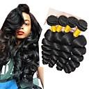 billige Hårvever med ekte hår-4 pakker Indisk hår Rett 8A Ekte hår Ubehandlet Menneskehår Forlengere Bundle Hair En Pack Solution 8-28 tommers Naturlig Naturlig Farge Hårvever med menneskehår Maskinprodusert Silkete Glat Smuk