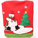 abordables Decoraciones Navideñas-Cobertor de Sillas Vacaciones Tejido Fiesta Decoración navideña