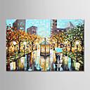 olcso Olajfestmények-Hang festett olajfestmény Kézzel festett - Landscape Modern Anélkül, belső keret / Hengerelt vászon
