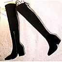 povoljno Ženske čizme-Žene Udobne cipele Brušena koža Ljeto Čizme Ravna potpetica Crn