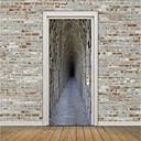 tanie Naklejki ścienne-Naklejki na drzwi - Naklejki ścienne 3D Sceniczne / 3D w pomieszczeniach / Na zewnątrz