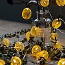abordables Lámparas LED-6m Cuerdas de Luces 40 LED Blanco Cálido Decorativa 220-240 V 1 juego