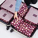 cheap Prints-6 sets Travel Luggage Organizer / Packing Organizer Portable / Waterproof / Travel Storage Bras / Clothes Nylon Travel