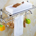 זול מדפי מקלחת-צדף לחדר האמבטיה עיצוב חדש / מגניב מודרני פלדת על חלד 1pc מותקן על הקיר