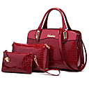 cheap Bag Sets-Women's Bags PU(Polyurethane) Bag Set 3 Pcs Purse Set Crocodile Black / Dark Blue / Wine