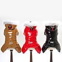 halpa Koiran vaatteet-Koirat Untuvatakit Koiran vaatteet Yhtenäinen Musta Kahvi Punainen Teryleeni Untuva Asu Käyttötarkoitus Husky Labradorinnoutaja kultainen noutaja Talvi Unisex Pidä Lämmin Tuulenpitävä