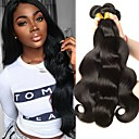 cheap Human Hair Weaves-3 Bundles Peruvian Hair Body Wave Human Hair Natural Color Hair Weaves / Hair Bulk / Bundle Hair / One Pack Solution 8-28 inch Natural Natural Color Human Hair Weaves Machine Made Soft / Silky