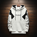 cheap Fruit & Vegetable Tools-Men's Sports Active / Street chic Long Sleeve Hoodie - Color Block / Letter Print Hooded White XL / Fall / Winter