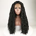 ieftine Peruci Dantelă Sintetice-Lănțișoare frontale din sintetice Pentru femei Buclat / Ondulee Naturale Negru Partea gratuită / Cu Păr Bebeluș 180% Human Densitate par Păr Sintetic 18-26 inch cu păr de păr / Rezistent la Căldur