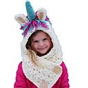 levne Sady oblečení-Toddler Dívčí Sladký Duhová Bavlna Čepice a kšiltovky Bílá Jedna velikost