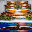 preiswerte Covers 3D Duvet-Bettbezug-Sets 3D Polyester Reaktivdruck 3 Stück