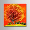 povoljno Apstraktno slikarstvo-Hang oslikana uljanim bojama Ručno oslikana - Cvjetni / Botanički Moderna Bez unutrašnje Frame / Valjani platno