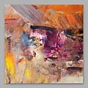 olcso Absztrakt festmények-Hang festett olajfestmény Kézzel festett - Absztrakt Modern Vászon