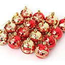 abordables Decoraciones Navideñas-Decoraciones de vacaciones Decoraciones Navideñas Navidad Decorativa Rojo 16pcs