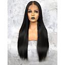 cheap Human Hair Wigs-Virgin Human Hair 360 Frontal Wig Deep Parting Kardashian style Brazilian Hair Yaki Straight Wig 150% Density Natural Women's Long Human Hair Lace Wig Premierwigs