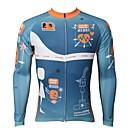 povoljno Biciklističke majice-ILPALADINO Muškarci Dugih rukava Biciklistička majica Sky blue Bicikl Biciklistička majica Majice Ugrijati Podstava od flisa Ultraviolet Resistant Sportski Zima Elastan Runo Brdski biciklizam