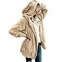 preiswerte Damen Stiefel-Damen Alltag Grundlegend Herbst Winter Übergrössen Standard Pelzmantel, Solide Mit Kapuze Langarm Polyester Dunkelgray / Khaki / Hellgrau XXXL / 4XL / XXXXXL