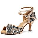 povoljno Cipele za latino plesove-Žene Plesne cipele Saten Cipele za latino plesove Šljokice Štikle Tanka visoka peta Plava / Nude