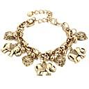 preiswerte Nagel-Funkeln-Damen Retro Armband mit Anhänger - Elefant, Herz Boho Armbänder Gold / Silber Für Karnival Bar